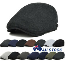 AU Men's Newsboy Gatsby Cap Ivy Hat Golf Driving Flat Cabbies Beret Driver Hats
