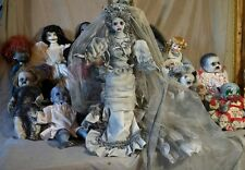 "Huge 24"" GHOST BRIDE HAUNTED  house prop doll Halloween creepy baby horror decor"