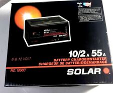 10/2 A 55A Solar Battery Charger/Starter 6 & 12 Volt No. 1050C Made In USA