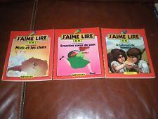 J'AIME LIRE - LOT DE 3 TOMES N°30 A 32 ANNEE 1979