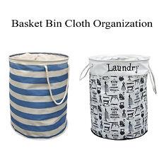 Basket Bin Collapsible Convenient Cloth Organization Solution Bedroom Bathroom