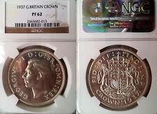 Gt. Britain 1937 Crown,  Nice Proof, NGC Prf 62, Rare Grade, 15k Struck