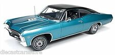 AUTOWORLD 1967 CHEVY IMPALA SS 427 TURQUOISE LTD TO 1254 PCS 1/18 AMM1027