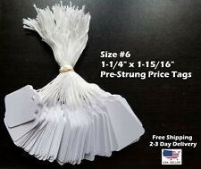 New Listingsize 6 Small Blank White Merchandise Price Tags With String Retail Jewelry Strung