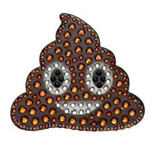 Rhinestone Sticker Decal Poop Smiley Happy Face Emogi 2 in bling Stickerbeans