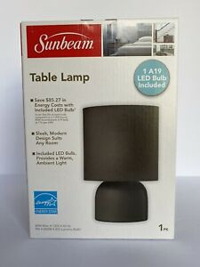 New Sunbeam Black Table Lamp with LED Bulb Included!