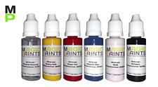 Airbrush Grundfarben Set, 5 Acrylfarben + Verdünnung, Basisfarben Set mit 6x20ml