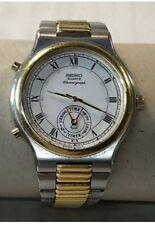 VinTage Seiko 8m25 Dancing Hands Quartz Chronograph Men's Wrist Watch RARE!