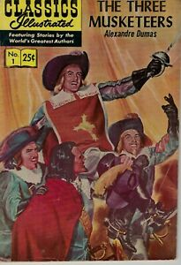 Illustrated Classics Comic No. 1 (1971) The Three Musketeers