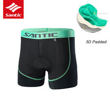 Santic Men 3D Padded Bicycle Cycling Underwear Bike Breathable Underpants