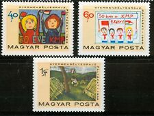 HUNGARY - 1968. Children's Paintings/Pioneer  Cpl.Set  MNH! Mi 2460-2462