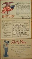 Set of Three, 'Rally Day' Postcards - 1909, 1912 & 1915