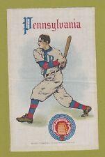 c1910s tobacco silk University of Pennsylvania Batter