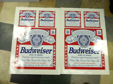 "Budweiser cornhole board decals 17"" (2) and 8"" (4)"