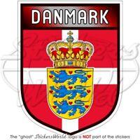 "DENMARK Danish Shield 100mm (4"") Bumper Sticker-Decal"