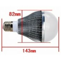 10w LED globe, 240v. Base: E27 or B22