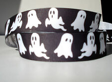 """Halloween Ghost 1"""" grosgrain ribbon 4 yards holiday decorate crafts hair bows"""
