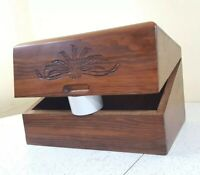Vintage Wood Top-open Bread Box Rustic Farm Country Kitchen