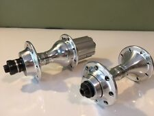 Vintage Campagnolo Shamal C-Record 16H front and rear hubs