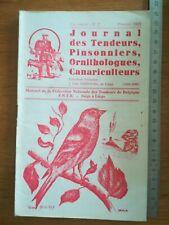 Ornithologie journal tendeurs N°2 1968 Pinsons Canari