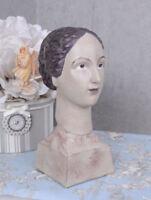 Frauenbüste Art Deco Büste Vintage Frauenfigur Shabby Chic Frauenkopf Antik Deko