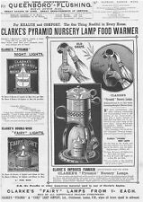 CLARKE'S PYRAMID NURSERY LAMPS Victorian Advertisement 1896