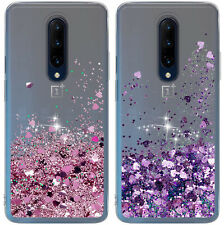 For OnePlus 8 7 6T 6 Pro 5G Case Moving Liquid Glitter Quicksand Clear TPU Cover