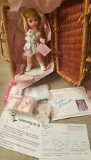 "MADAME ALEXANDER 8"" Doll Wendy Loves Learning To Sew New in Basket"