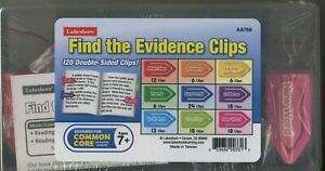 Lakeshore Find the Evidence Clips 7+ 120 Double-Sided Clips Common Core