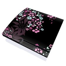 Sony PS3 Slim Console Skin - Dark Flowers by Kate Knight - DecalGirl Decal