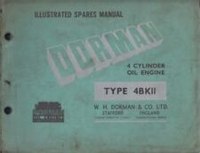DORMAN TYPE 4BKII 4-CYL DIESEL ENGINE ORIG. 1951 FACTORY ILLUSTRATED PARTS LIST