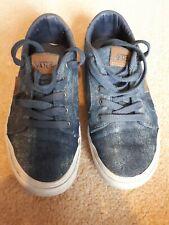 Vans blue denim style shoes size 3 UK. Good condition
