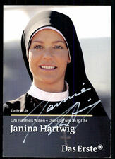 Janina Hartwig Um Himmels Willen Autogrammkarte Original Signiert ## BC 31338