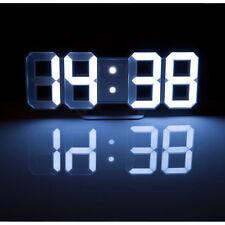 XXL Große Weiße Digital LED Tisch  U0026 Wanduhr, 7 Segmente, Dimmbar