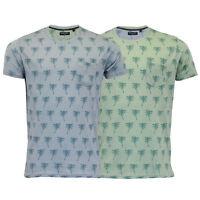Mens T Shirt Brave Soul Palm Tree Print 'Kentica' Short Sleeved Beach Top Summer