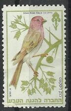 Judaica Israel Old Label Stamp Bank Discount Nature Society Sinai Rose Finch