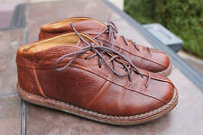 TRIPPEN shoes BOOTS brown oxford lace-up flat size 37 us 7 DISSTRESED LEATHER