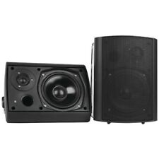 Pyle Wall Mount Waterproof & Bluetooth Speakers, 6.5'' Indoor/Outdoor (Black)