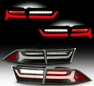 For 2004-2008 Acura TSX Black FULL LED Tail Lights Brake Lamps Right+Left set