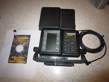 HUMMINBIRD LCR 3004 Portable Fishfinder w/ bracket, monitor, power cord, manual+