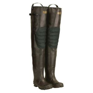 NEW Mens Pro Line Rubber Hip Boot Waders Felt Sole Brown Size 9 M