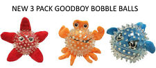 NEW 3 PCK GOODBOY TEXTURED BOBBLE BALL CHARACTERS DOG PUPPY INDOOR PLAY TOYS