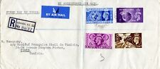 1948 Sg 495/8 London Olympic Games First Day Cover Air Mail Envelope