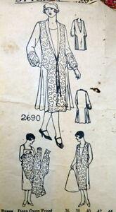 RARE VTG 1920s DRESS Sewing Pattern BUST 44