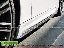 GS Style Carbon Fiber Side Skirts Add on Lip For BMW 2008-2013 E92 E93 M3 Only
