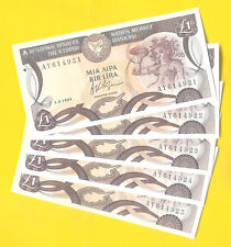 1 CYPRUS POUND 1994 -  UNCirculated. - 5 CONSECUTIVE NUMBERS - SPECIAL PRICE