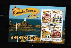 "#2402= used 1990 souvenir sheet ""Tourism"""