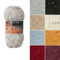 James C Brett Norske Chunky Acrylic Wool Yarn Knitting Crochet Craft 50g Ball