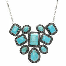 Turquoise Stone Bib Costume Necklaces & Pendants
