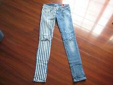 METin Jeans Angel Skinny Size 26 True Measurements 26 1/2 X 32 1/2 Striped Stars